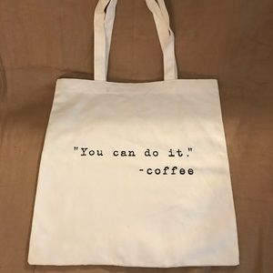 Forever 21 Coffee Cotton Tote Bag